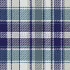 Blue striped tartan plaid seamless pattern