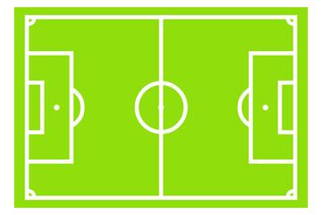Leeres Fußballfeld - Illustration