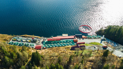 Salmon fish farm. Norway