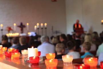 Gottesdienst in der Kirche