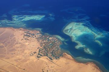 Luftaufnahme der Ferienstadt El Gouna
