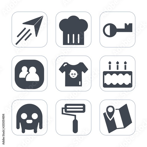 df75e0940 Premium fill icons set on white background . Such as kitchen