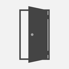 Open door vector icon. Icon indicating room entrance or exit.