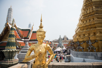 Golden statue in palace