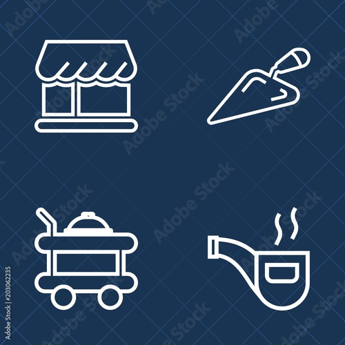 Premium set of outline vector icons  Such as work