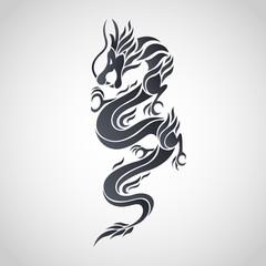 Dragon logo. Vector illustration.