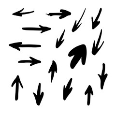 Handwritten arrows