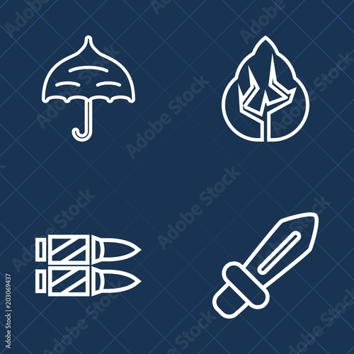 Premium set of outline vector icons  Such as outdoor, season, steel
