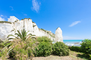 Vieste, Italy - Out for a walk in the park at the chalk rocks of Vieste