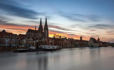 Regensburg Abendrot