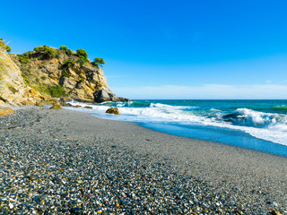 Playa de Maro, Nerja, Andalusia, Spain