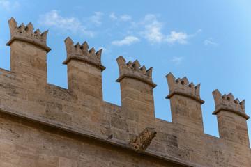 Detalle exterior del edificio de La Lonja. Valencia. España
