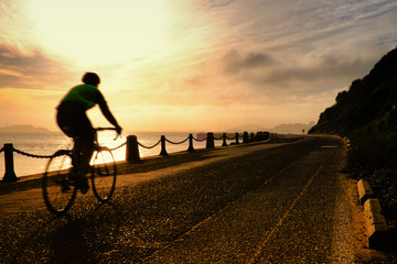 Man cycling at Golden Gate National Recreation Area