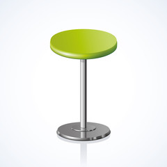 Rounded chair. Vector illustration