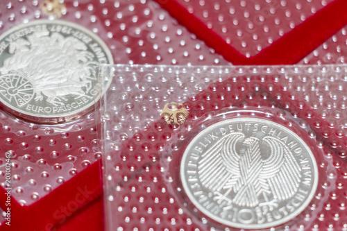 Münzen In Blister Sichtverpackung 10 D Mark Deutsche Mark