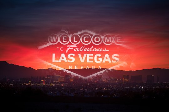Welcome in Las Vegas Concept