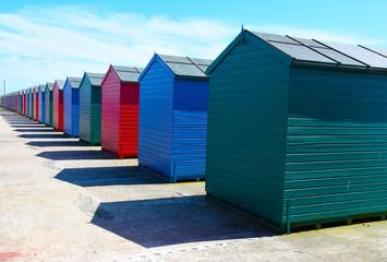 Seaside Beach Huts in a row
