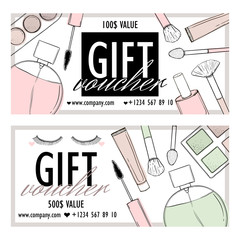 Printed products for a beauty shop and cosmetics, for bloggers and sites.