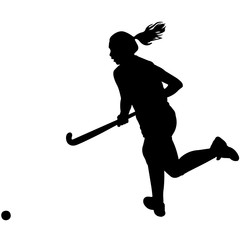 Woman Field hockey Player silhouette, Female Field hockey Player clipart, Girl sports vector, Girls Svg, png, eps,   jpg