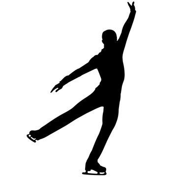 Man Figure skating silhouette, Male Figure skating clipart, Boy sports vector, Boys Svg, png, eps,   jpg
