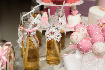 Dessert table for a party with food decoration