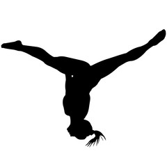 Woman Gymnast silhouette, Female Gynmastics clipart, Girl sports vector, Girls Svg, png, eps,   jpg