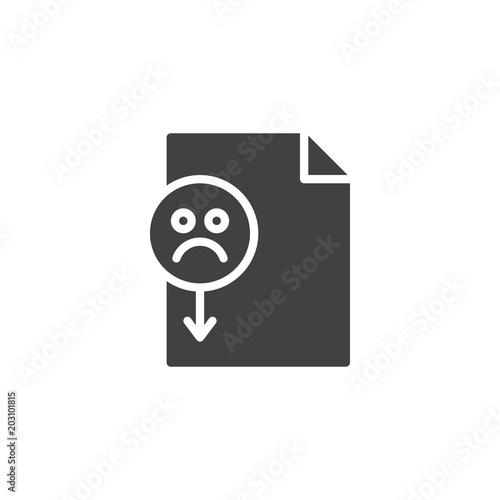 Bad Rating File Format Vector Icon