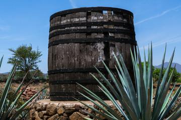 Barril muy grande en la ruta del tequila.
