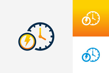 Power Time Logo Template Design Vector, Emblem, Design Concept, Creative Symbol, Icon
