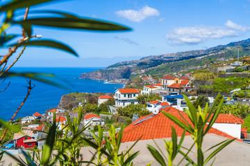 Wall Mural - Ribeira Brava coastline on the Madeira island, Portugal