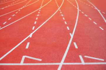 Track and Field with number start running race
