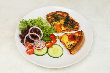 Mediterranean vegetable quiche