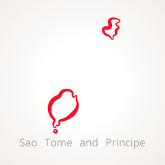 Sao Tome and Principe - Outline Map