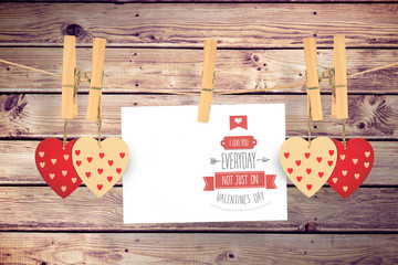 I love you everyday against wooden planks background