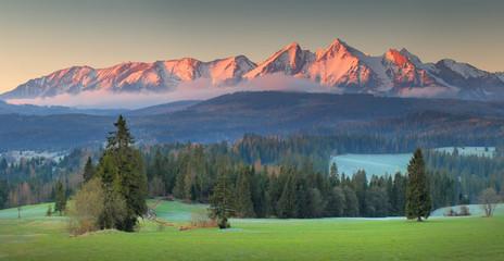 Panoramic view of Tatra mounains