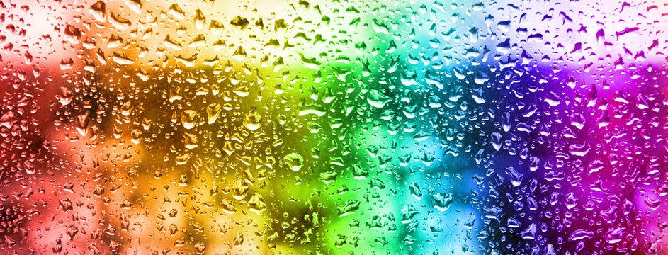 image of rain drops on glass