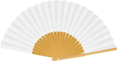 Paper fan. vector illustration