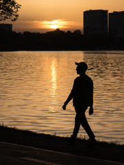 sunset in the park, cool afternoon, relax, enjoy life, great city