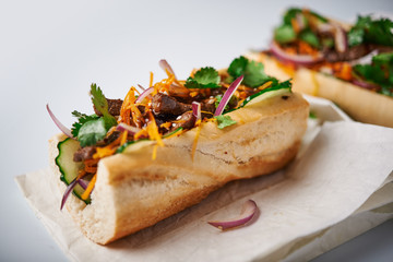 banh mi sanwdiches with beef