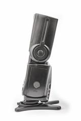 Black camera flash isolate