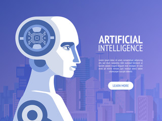 Artificial intelligence concept. Vector banner