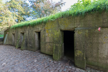 World War I bunkers, Canadian, near Ypres Belgium