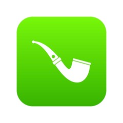 Smoking pipe icon digital green for any design isolated on white vector illustration