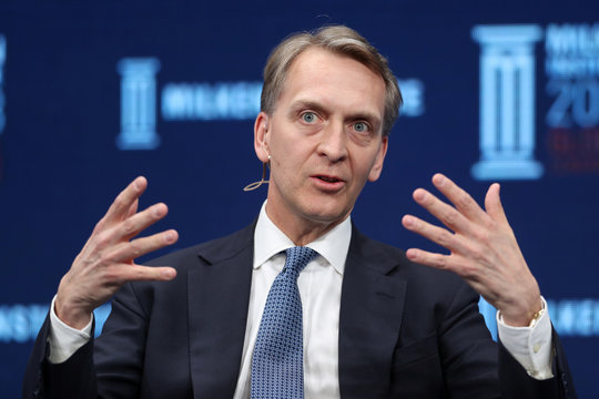 Bruce Flatt, CEO, Brookfield Asset Management Inc, speaks at the Milken Institute's 21st Global Conference in Beverly Hills