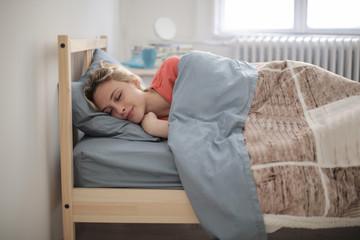 Beautiful girl fallen asleep