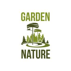 Vector tree icon for garden nature