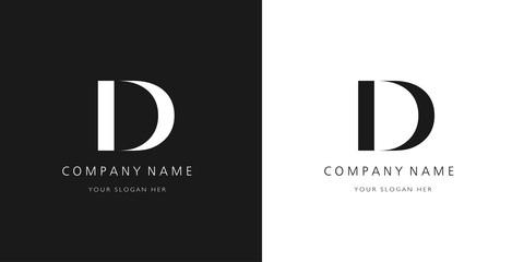d logo letter design