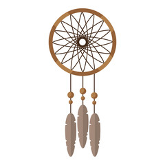 dream catcher with feather and ornament decoration