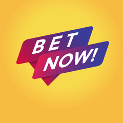Bet now tag sign.