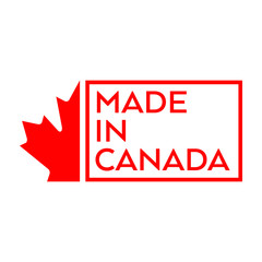 Made in Canada text design